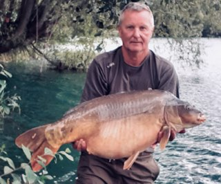 One of Johns 40lb+ fish from a 675lb haul using whitetiger products